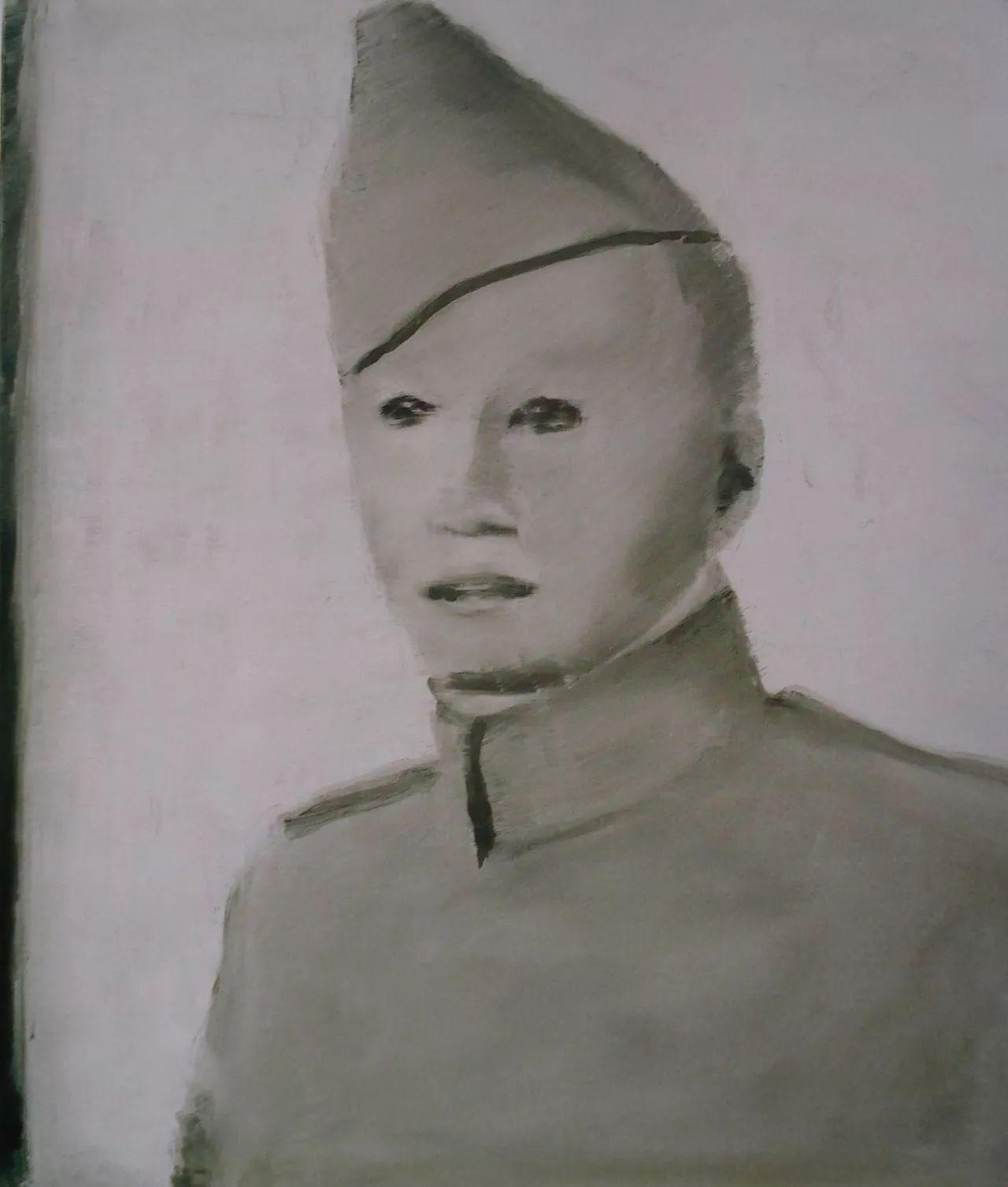 Obraz Luca Tuymansa przedstawiający żołnierza