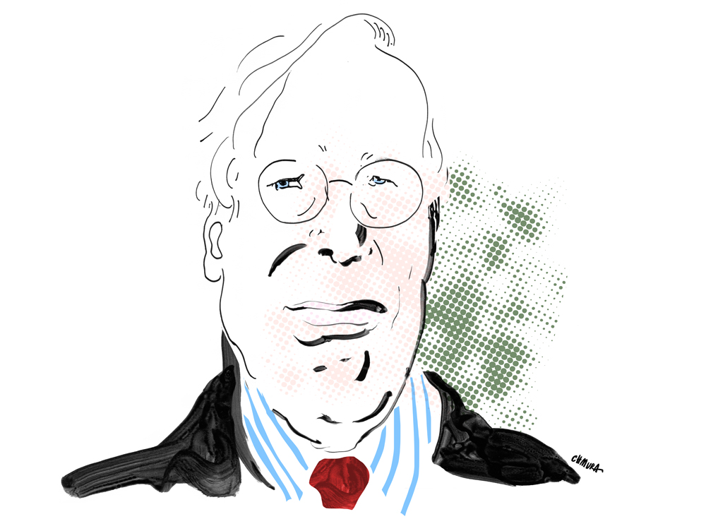 Portret Ronalda Dworkina, rys. Maja Chmura