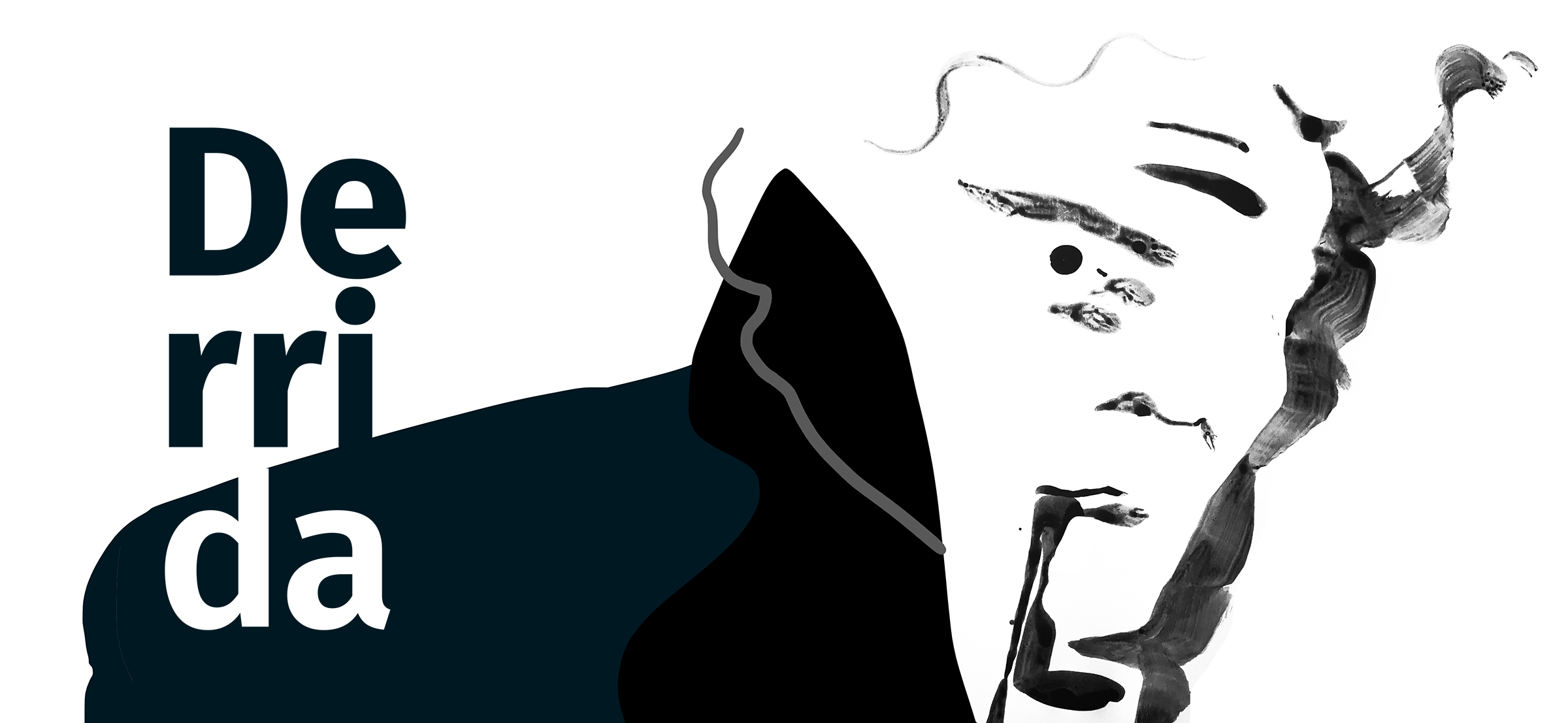 Jacques Derrida. Rysunek: Maja Chmura